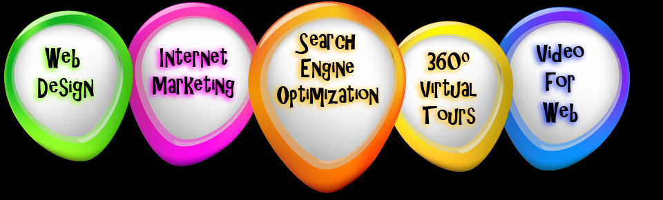 web design, internet marketing, search engine optimization, SEO, 360 degree virtual tours, video for web